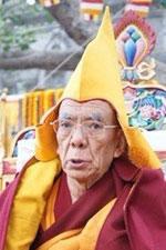 The 102nd Ganden Tripa Kyabje Rizong Rinpoche