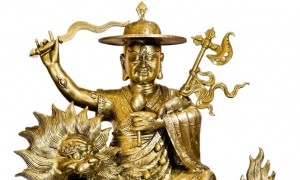 39-inch brass statue of Dorje Shugden, available to invite home from our online store