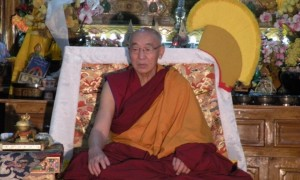 The Venerable Abbot of Shar Gaden Monastery, Geshe  Lobsang Jenpa
