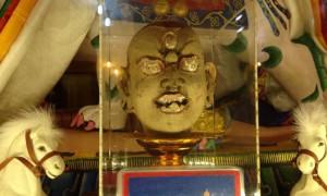 Sacred handmade head of Dorje Shugden made by Kyabje Phara Dorje Chang