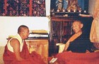 Postcard: Geshe Rabten with H.H. Trijang Rinpoche