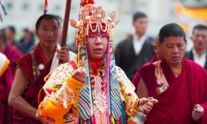 H.H. the 11th Panchen Lama in Dakini dress