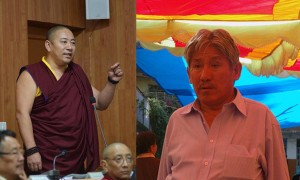 Kagyu MP Tenpa Yarphel (left) said that His Holiness the Dalai Lama's private office were wrong to present an award to MP Dawa Tsering (right), resulting in a walkout of the majority of parliament. What kind of mature leaders walk out because a leader is criticized in this manner?