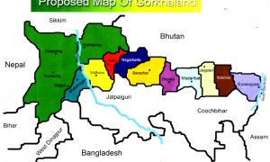 A proposed map of Gorkhaland. Click to enlarge.