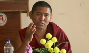Thupten Choephel of Sera Jey Monastery in Bylakuppe, South India states clearly in a press briefing that his proposal of self-harm is a protest against the dirty politics that run rampant in the Tibetan exile community, with his greater goal being the Tibetan cause.