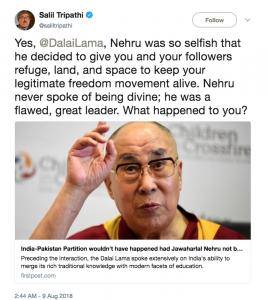 Indian hate tweet
