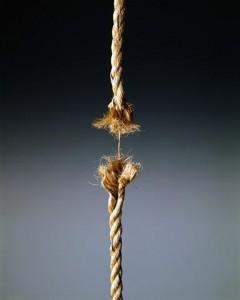 Taut Rope Breaking Apart